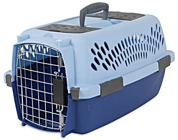 Aspen Pet Pet Porter Plastic Kennel Camp baby blue