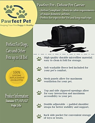 Pawfect Soft Sided Travel Pet Carrier review