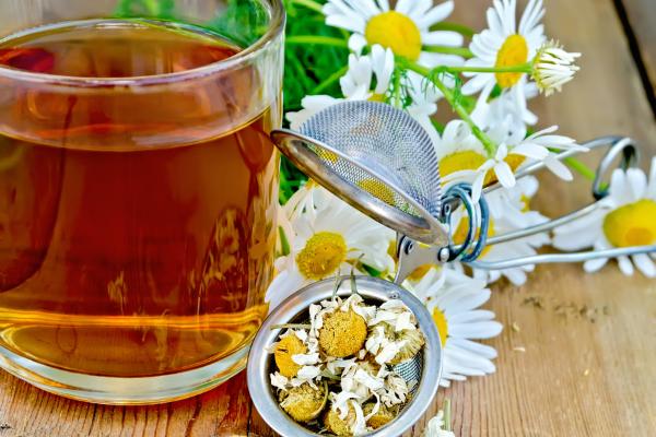 Chamomile Tea to sooth irritated dog paw